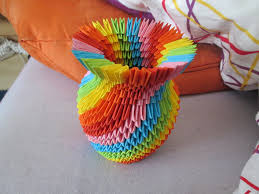 Origami 3d Flower Vase 17 Origami Flower Vase Small And Quick Rangoli Design