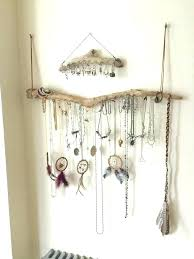 jewelry holder necklace images Necklace holder wall mounted earring wall holder driftwood jewelry jpg
