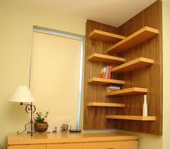 Corner Bookcase Ideas Decorative Wall Shelves With Floating Shelves Made Of Wood