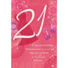 21st birthday female traditional greeting card u2013 range imports