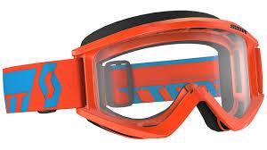 scott prospect motocross goggle 2018 scott recoil xi clear works orange blue offroad goggles complete