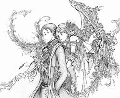 printable coloring page of angels coloring home