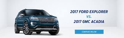 nissan pathfinder vs gmc acadia suv comparison tool compare 2017 ford explorer vs 2017 gmc