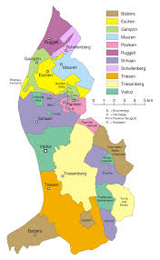 Map Of Germany With Cities And Towns In English by Municipalities Of Liechtenstein Wikipedia