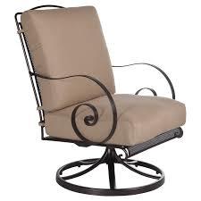 Swivel Rocker Patio Chairs by Avalon Wrought Iron O W Lee
