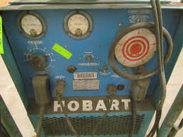 hobart rc250 250 amp 3ph dc wire feed welder w cart cables gun