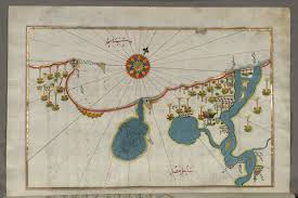 Alexandria On A Map File Piri Reis Map Of The Egyptian Coast From Alexandria As Far