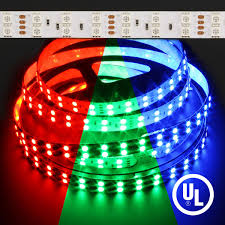 led outdoor strip lighting color changing rgb 5050 double row 144w led strip light