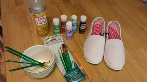 how to paint canvas shoes ambeemichelle