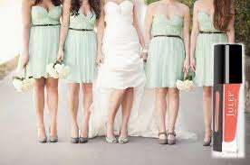 7 on trend bridesmaid dress u0026 nail polish color combos