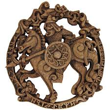 odin wood finish resin norse god plaque all father 7 3 4 inches