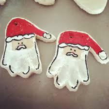 handprint santa salt dough ornaments t shirt