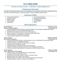Job Description Resume Intern by Best Grants Administrative Assistant Resume Example Livecareer