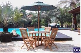 Patio Umbrella Singapore Teak Outdoor Furniture Singapore Teak Outdoor Table Chair Set