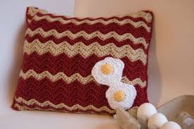 knitting pattern bacon scarf free pattern bacon and eggs pillow