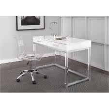 White Desk And Chair Modern White Desk Everett Rc Willey Furniture Store