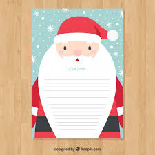 santa claus letters letter template with santa claus vector free