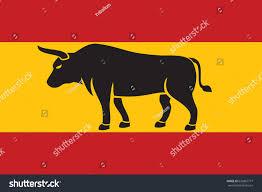 Bull Flag Silhouette Bull Flag Spain Stock Vector 626867777 Shutterstock