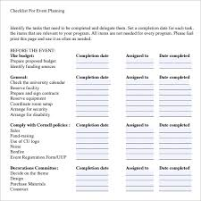 Event Planning Checklist Template Excel 10 Event Planning Checklist Templates Free Sle Exle Format