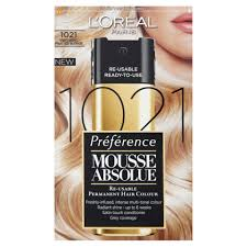 l u0027oreal paris preference mousse absolue 1021 very light frosted