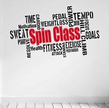 spinning l that projects pictures on the walls spin class motivational wall decal gym quote workout spinning