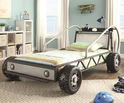 silver race car bed 400702 coaster kids furniture kids bedroom
