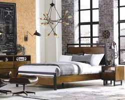 live edge solid wood u0026 iron queen platform bed zin home