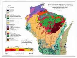 Wisconsin Counties Map by Contested Landscapes Geology