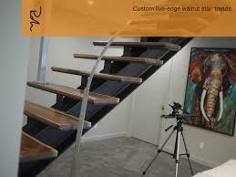 custom live edge walnut stair treads u2014 robin wade furniture