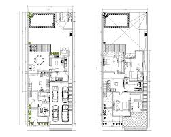 Two Storey House Design And Floor Plan Two Storey House Plan Cad Drawing Cadblocksfree Cad Blocks Free