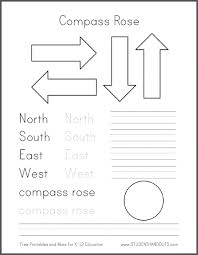 diy compass road for primary grades social studies geography free