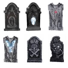 led illuminated halloween graveyard tombstone assortment 17