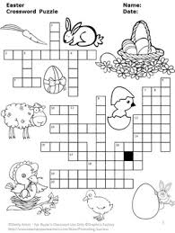 easter crossword puzzle for ela secular crossword puzzles