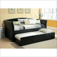 queen trundle bed adena espresso fauxleather full bed w trundle