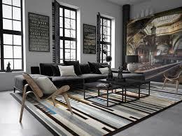 interieur et canapé tapis salon industriel waaqeffannaa org design d intérieur et