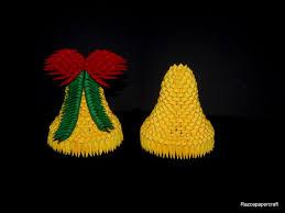 3d origami christmas bell tutorial origami pinterest