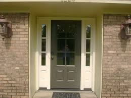 Exterior Door With Side Lights Wood Front Door With Sidelights And Traditional Brick Wall