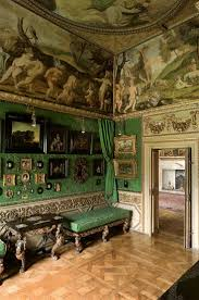 1283 best interiors of castles stately homes images on pinterest 77 ham house green closet interior detail of painted ceilings art in miniature hung on fabric walls