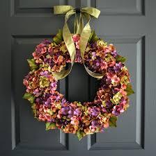 Spring Wreath Ideas Front Doors Home Door Door Ideas Spring Outdoor Wreaths For