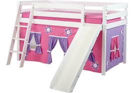 Rooms To Go Kids Loft Bed by Pink Cottage White Jr Tent Loft Bed With Slide Twin Beds Colors
