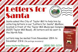 letters to santa mailbox letters for santa mailbox city of mill ky