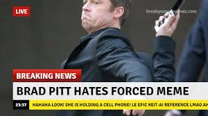 Brad Meme - brad pitt hates keit ai keit ai finds a way know your meme