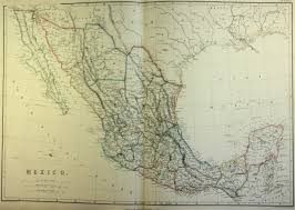 Old Map Of Mexico by Map Of Mexico 1860