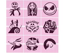 halloween nightmare character cookie stencils 5 5 x 5 5
