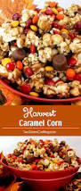 popcorn for halloween harvest caramel corn two sisters crafting