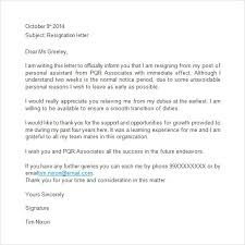 40 two weeks notice letters amp resignation letter templates with