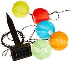 Outdoor Lantern String Lights by Amazon Com Sunniemart 20 Led Chinese Lantern String Lights Solar