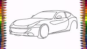 how to draw ferrari ff step by step easy drawing a car youtube