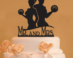 weight lifting cake topper cake topper etsy