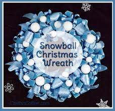 you ll this frosty blue snowball and ribbon wreath